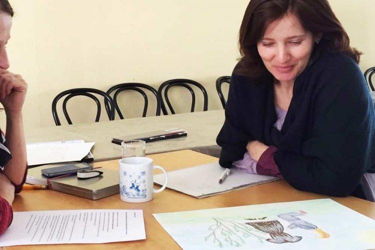 Maltherapie Gestaltungstherapie Kreativtraining Wien Ute Riedlmair Einzelsetting Einzelstunde