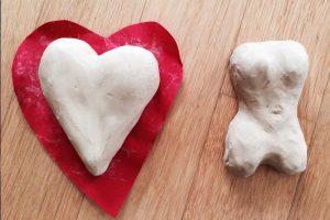 Maltherapie Gestaltungstherapie Kreativtraining Wien Ute Riedlmair gestalten mit Ton Herz