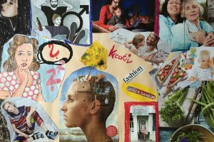 Maltherapie Gestaltungstherapie Kreativtraining Wien Ute Riedlmair kreative Collage