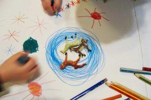Maltherapie Gestaltungstherapie Kreativtraining Wien Ute Riedlmair Aufstellungsarbeit mit Kinder